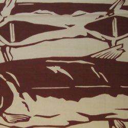 画像3: 越後手ぬぐい本舗 塩引き鮭(注染)